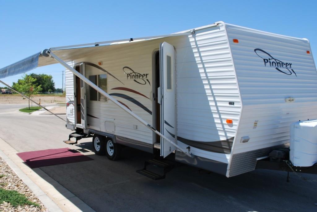 26' Fleetwood Pioneer Kuna Idaho Travel Trailer Rental Exterior 1