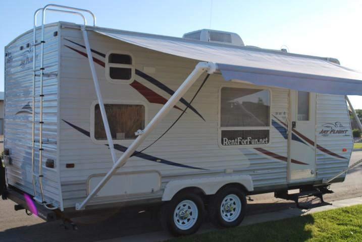 20' Jayco Jayflight Boise Idaho Travel Trailer Rental Exterior 5