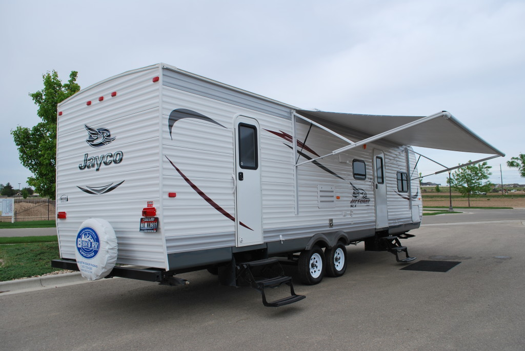 Jayco-Jayflight-287BHSW-Bunk-House-Travel-Trailer-Rental-Ext-05