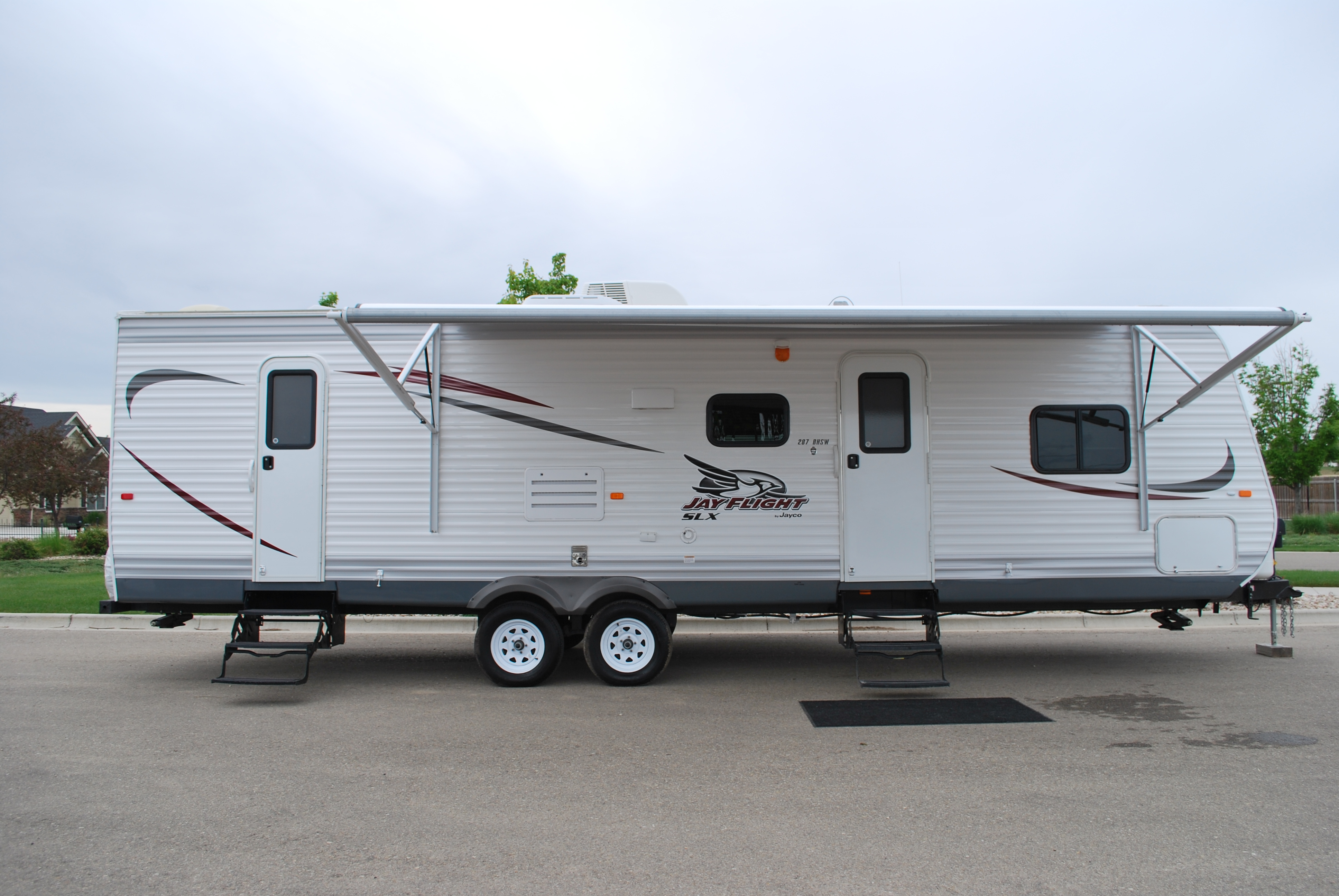 29 39 jayco jayflight bunkhouse luxury travel trailer rental for Motor homes to rent