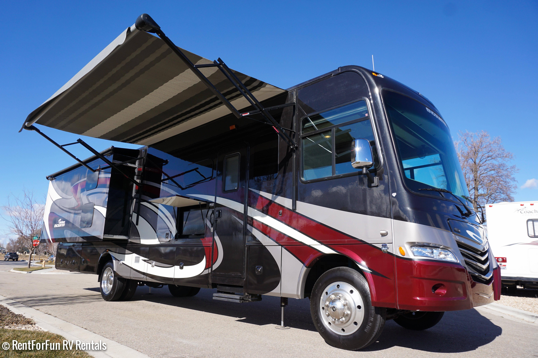 36′ Coachmen Encounter Luxury Bunk House Class A RV Rental with Satellite TV