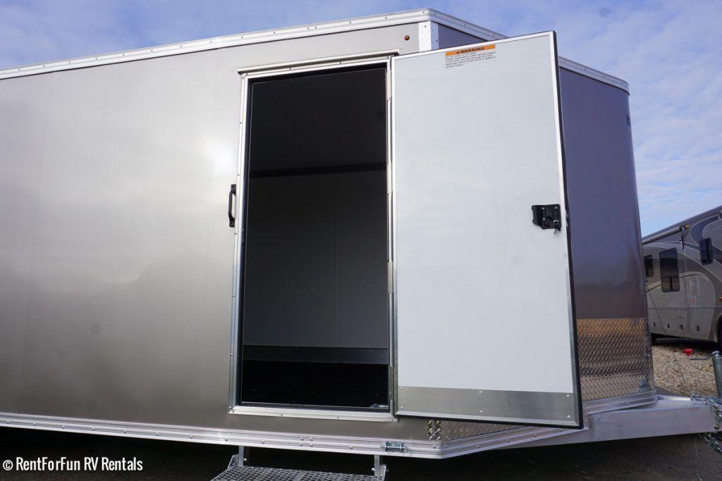 24 Ultra Light Aluminum Enclosed Trailer Rental All