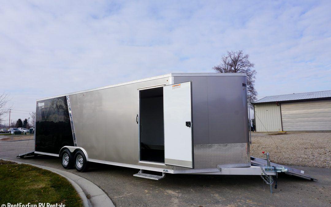 24 Ultra Light Aluminum Enclosed Trailer Rental All Purpose Car